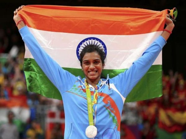 pv sindhu wins silver indian flag