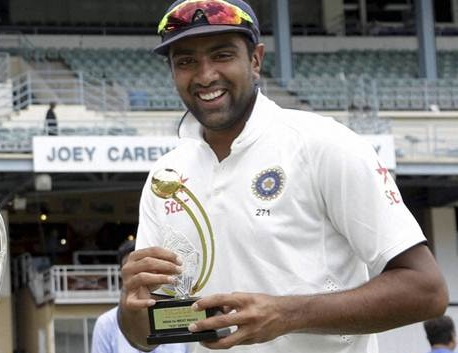 r ashwin man of the series