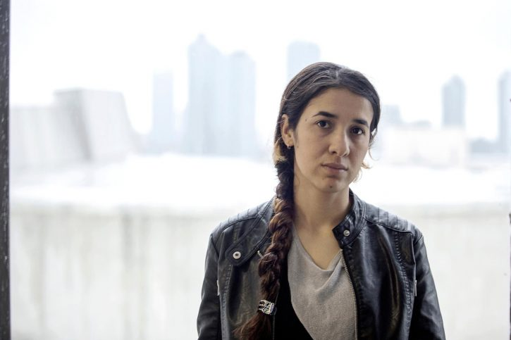 Twentyoneyearold Nadia Murad Basee Taha is in New York City to testify in front of the UN Security Council about the plight of the Yezidi ethnic and