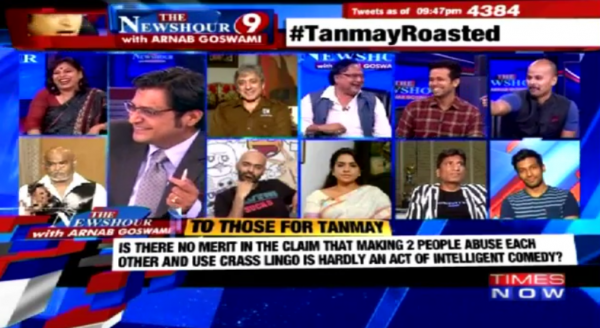 times now channle pannel