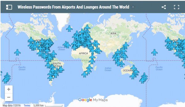 This Interactive Map Reveals WiFi Passwords At Airports Around The - World airports map
