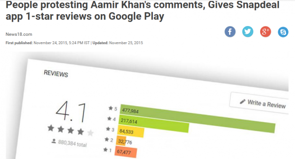 people-protesting-aamir-khan-s-comments-give-snapdeal-app-1-star-reviews-on-google-play