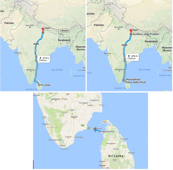 Ayodhya In India Map.Ever Wondered How Lord Rama Travelled All The Way From Lanka To