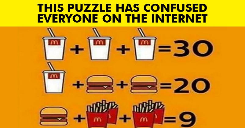 Fast Food Maths Problem
