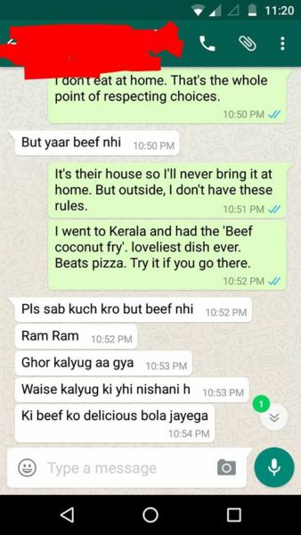 This Hindu Brahmin Girl's Conversation With A Man Over