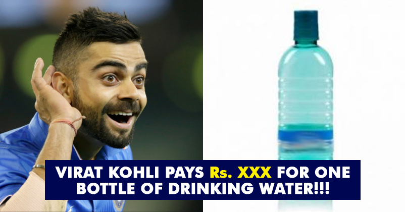 Kohli Drinks The World S Most Expensive Water Even Many