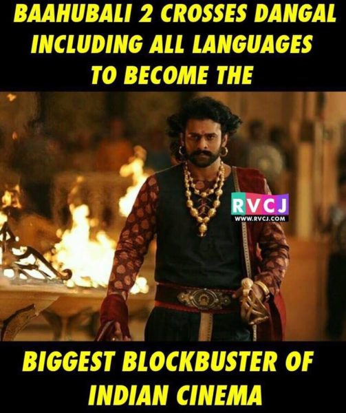 5th Day Collections Of Bahubali 2 Are Out Hindi Version Is All Set