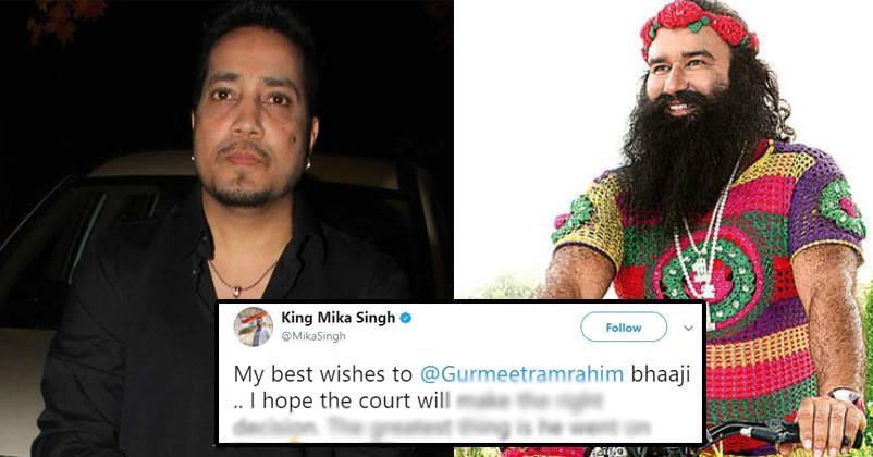 Mika Wishing Gurmeet Ram Rahim
