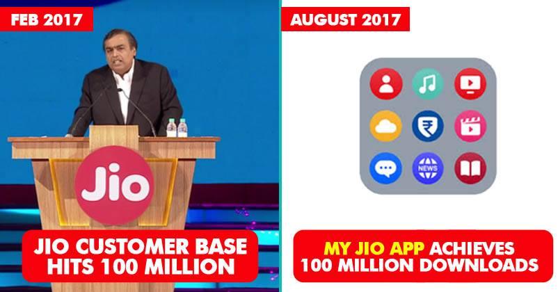 Jio Rocks! MyJio Becomes The 2nd Indian App To Cross 100 Million