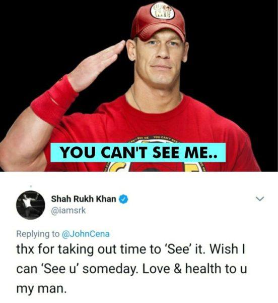 John Cena Praised Srk For Ted Talks Srk Gave The Wittiest Reply To