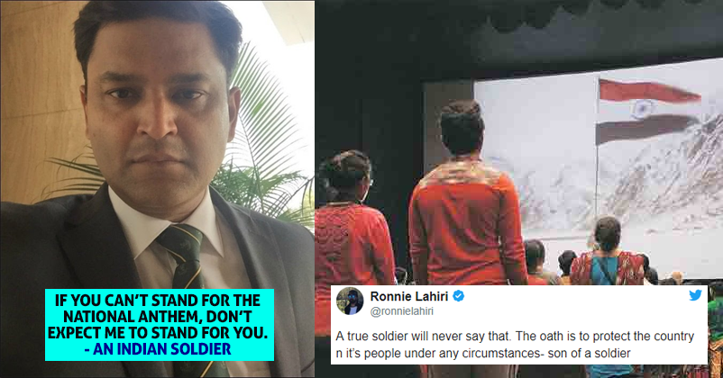 Major Gaurav Arya Spoke Against National Anthem Rule Gets Reply From Other Soldiers Rvcj Media
