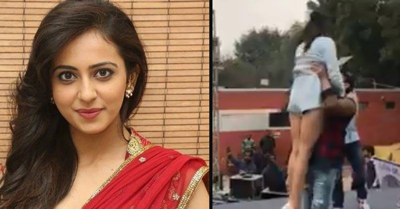 Rakul Preet Just Missed A Wardrobe Malfunction Video Is Too Embarrassing Rvcj Media