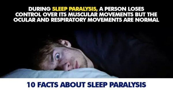 Fact about Sleep disorders paralysis