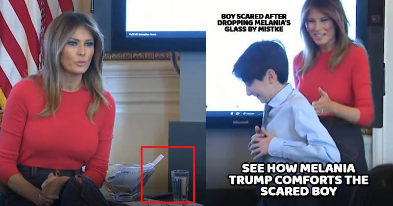 Student Accidentally Drops Drinking Glass During Event. This Is How Melania  Trump Reacted