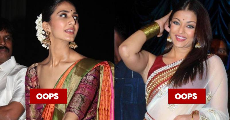 8 Bollywood Actresses Who Had The Worst Saree Malfunctions ...