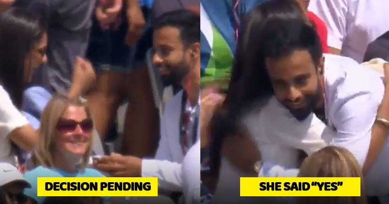 A Young Boy Proposed His Girlfriend Amidst Ind Vs Eng Match