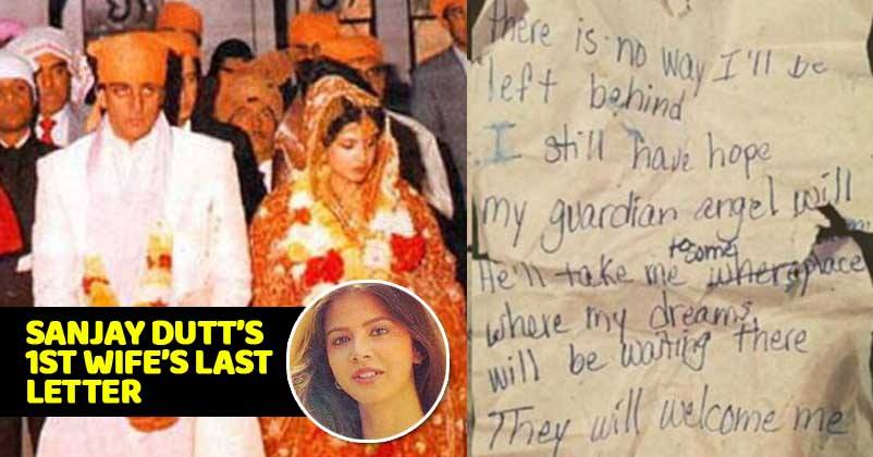last letter of sanjay dutts wife richa sharma is out it