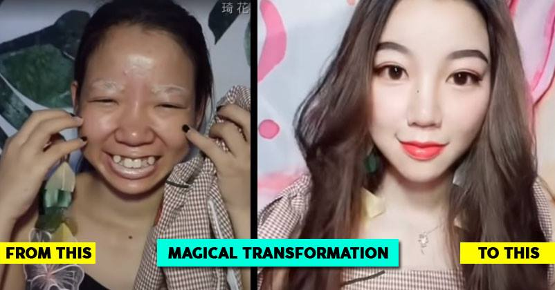 Chinese Girl Shows An Incredible Makeup Transformation What A