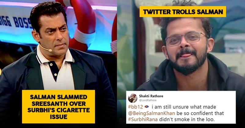 Salman Slams Sreesanth in Last Night's Episode