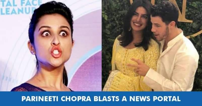 Parineeti Chopra Slams News Portal For Fake News On Nick Priyanka