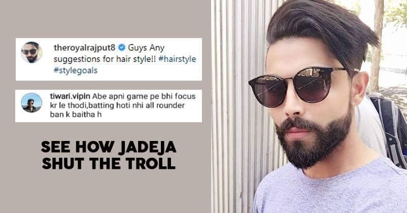 A Fan Tried To Troll Ravindra Jadeja On Instagram, But
