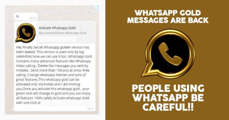 Beware Of WhatsApp Gold Updates, It Is A Virus Which Could