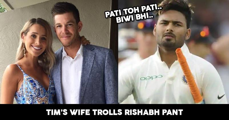After Rishabh Pant S Temporary Captain Comment Tim Paine S Wife Calls Him Best Babysitter Rvcj Media