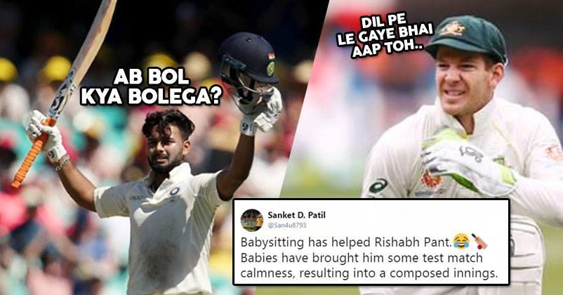 Twitterati Cracks Baby Sitting Jokes On Rishabh Pant After His Amazing Test Ton It S Hilarious