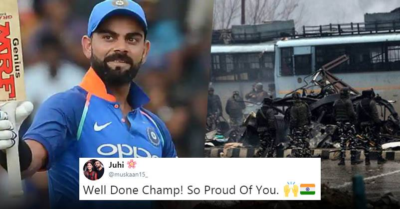 Virat Kohli Wins Twitter With Heartfelt Gesture After Pulwama Tragedy, Fans Call It 'Great Move'