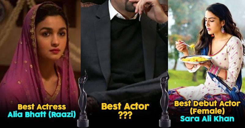 64th Filmfare Awards 2019 Complete Winner List  Best Actor