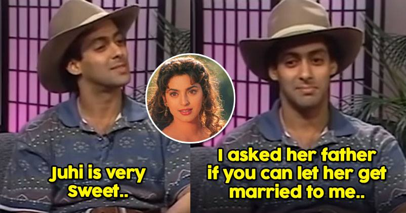 Salman Is Still Unmarried Bcoz Of Juhi Chawla? Actor Made A
