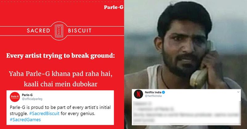 Parle-G Used Dialogue Of Sacred Games After Its Mention In