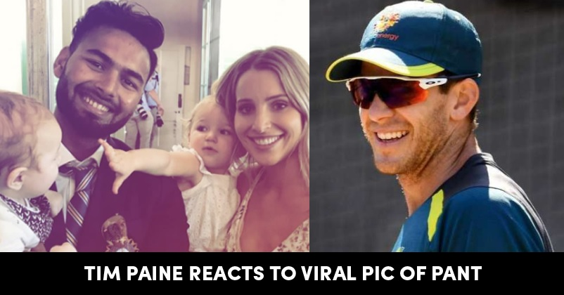 Tim Paine Reacted On Sledging The Episode Of Rishabh Pant Babysitting His Kids Rvcj Media