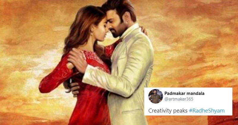 Prabhas & Pooja's Radhe Shyam Poster Looks Hilarious With Assam Police's Coronavirus Twist