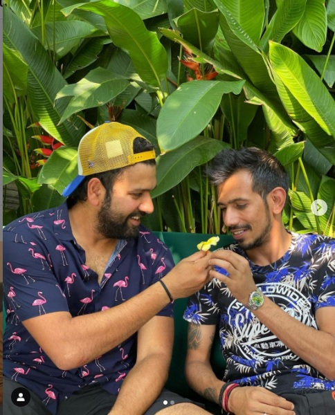 Chahal Hilariously Shares 'Senorita' Moment With Rohit Sharma, Ritika Sajdeh & Dhanashree React